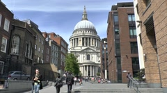 St Pauls Cathedral, London, UK. Stock Footage