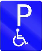 Stock Illustration of Disabled Parking in Indonesia