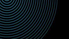 Moving blue circle signal waves Stock Footage