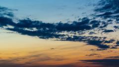 Pre-dawn sky Stock Footage