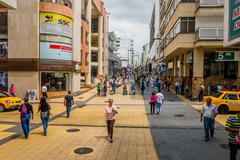 Important commercial street one of the city landmarks Centro Comercial de Cielos - stock photo