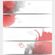 Abstract hand drawn spotted background with empty place for text message. Web - stock illustration