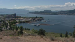 Lake Okanagan from Knox Mountain Stock Footage