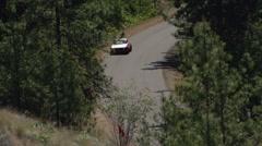 motorsports, hillclimb race, up close action follow shot, Alfa Romeo - stock footage