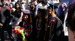 Graduation, Commencement, Graduation Day, College, University Stock Footage