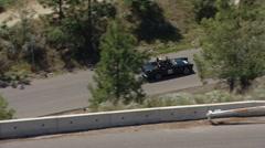 Motorsports, hillclimb race, low angle on hill, sunbeam tiger Stock Footage