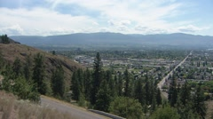 Pan of Kelowna and lake Okanagan Stock Footage