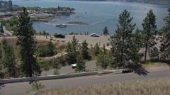 Motorsports, hillclimb race, low angle on hill, white Diaso Stock Footage