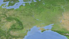 Ukraine on maps - Do It Yourself as you like. Neighbourhood Stock Footage