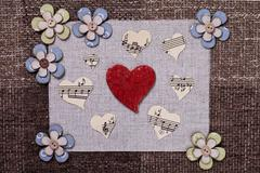 heart music love background wallpaper design - stock photo