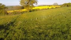 Low level flight in a rural landscape Stock Footage