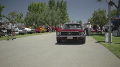 Old cars at car show 2015 Stock Footage