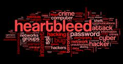 Stock Illustration of Heartbleed attack in word tag cloud