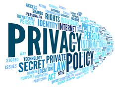 Stock Illustration of Privacy policy in word tag cloud