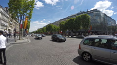 Paris,  Champs Elises street, Popular touristic location Stock Footage