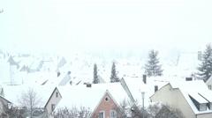 Little village in Winter Stock Footage