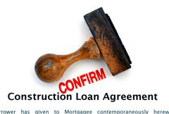 Construction loan agreeement - stock photo