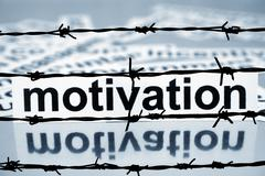 Motivation and barbwire concept Stock Photos