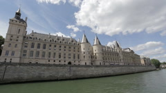 The Conciergerie is a former prison in Paris Stock Footage