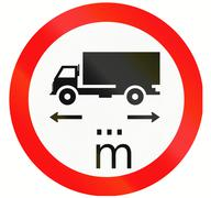 Lorry Length Limit in Indonesia Stock Illustration