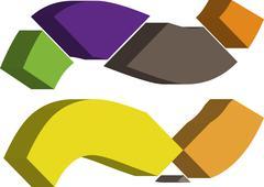 Stock Illustration of 3d font symbol