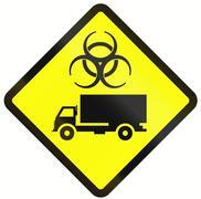 Biological Hazard Warning Sign In Indonesia Stock Illustration