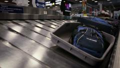Baggage Carousel At The Airport - Baggage Claim Stock Footage