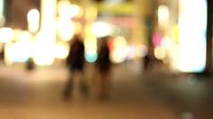 Nightlife on the street Stock Footage
