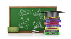 chalk board  for business training - stock illustration