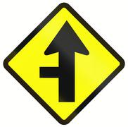 Stock Illustration of Intersection With Priority In Indonesia