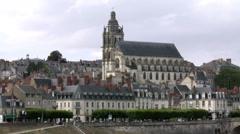 Cathedrale Saint-Louis de Blois - Blois France Stock Footage