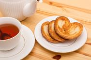 Stock Photo of Cup of tea with cookies