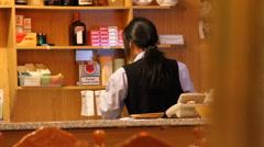 Restaurant and Bar in San Sebastian, Spain Stock Footage