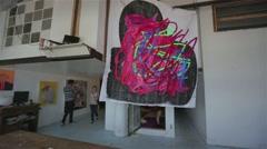 Bushwick Brooklyn Artist Loft Stock Footage