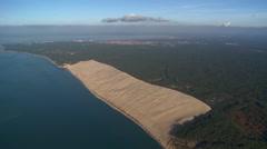 Highest europa sand dune - stock footage