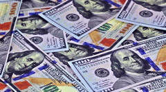 Hundred dollar bills, rotate of clockwise. Loopable. HD 1080 Stock Footage