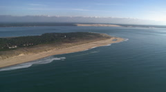 Beach Font of atlantic ocean - stock footage
