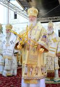 Kiev, Ukraine, the Holy Dormition Kiev-Pechersk Lavra, the celebrations in honor Stock Photos