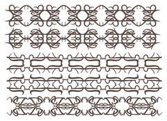 Stock Illustration of Vintage decorative design elements set