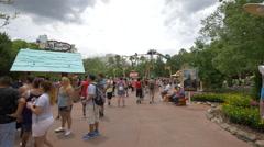 Islands of Adventure at Universal Studios, Orlando Stock Footage