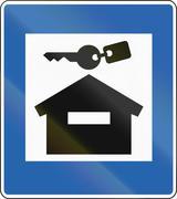 Cottage Accomodation In Iceland - stock illustration