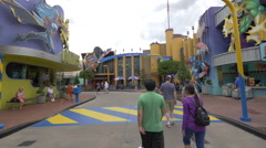 The Marvel Super Hero Island at Universal Studios, Orlando Stock Footage