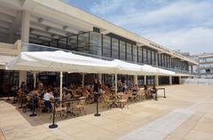 Charles Bronfman Auditorium in Tel Aviv - Israel - stock photo