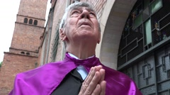 Praying, Priest, Father, Religion Stock Footage