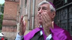 Priest Speaking Stock Footage