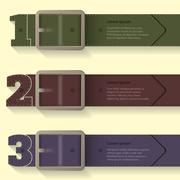 Belt buckle infographic background design Stock Illustration