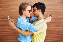Sms flirt Stock Photos