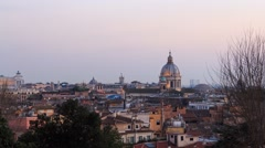 Rome's rooftops, Zoom. after sunset. Italy. Time Lapse. 1280x720 Stock Footage