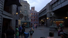 The Diagon Alley of Universal Studios, Orlando Stock Footage