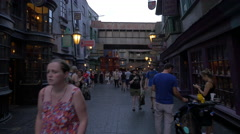 Walking on Diagon Alley at Universal Studios, Orlando Stock Footage